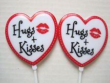 Floral Picks HEART, HUGS & KISSES + LIPS Valentines Love Anniversary Pk/6 !