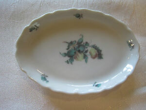 Antique NYMPHENBURG Porcelain HandPainted Trinket Jewelry Dish Plate Germany