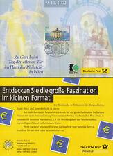 Werbekarte der Dt.Post zur offenen Tür Haus d.Philatelie Wien (m.MiNr.Bund 2276)