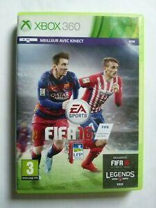 FIFA 16 compatible KINECT -  Xbox 360 -  CD en bon état