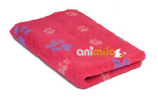 Tapis Confortbed Vetbed Dry Extra fuchsia pattes roses violettes, 26 mm 75x100 c