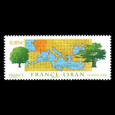 France 2008 - France Lebanon Joint Issue Map - Sc 3569 MNH
