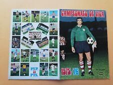 Album Cromos Campeonato  Liga 1975  76 Fher completo Iríbar Cruyff Neskens
