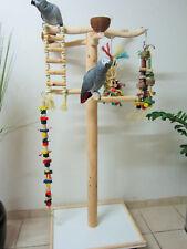 FREISITZ aus ROTBUCHENHOLZ, Papageienspielzeug, mittlere Papageien, Höhe 130 cm