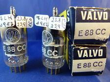 Matched Pair E88CC/CCa Valvo # NIB # same production codes # grey shields (9883)