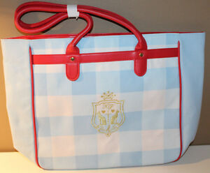 """Katy Perry Blue Red Spring 2015 Bag GWP Canvas Tote 17"""" Wide 12"""" Tall"""