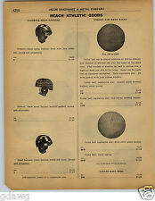 1922 PAPER AD Reach Leather Football Helmet Harness Dog Ear Type 3 Models Early
