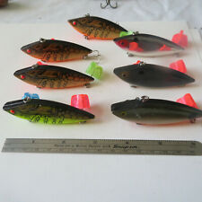 """FISHING LURE 7  UNBRANDED   3""""     RATTLERS  ASSORTED COLORS"""