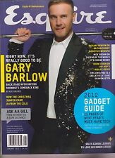 ESQUIRE UK MAGAZINE JAN 2012, GARY BARLOW, NO LABEL.