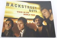 Backstreet Boys This Is Us World Tour Book New Official Color Glossy BSB Program
