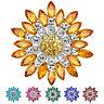 EG _ Damen Mode Blume Brosche Kristall Strass Schmuck für Hochzeits Party NOV
