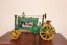Cast Iron Green Toy Tractor ~ Retro John Deere Vintage Look, 1/16 Scale, 11 1/2""