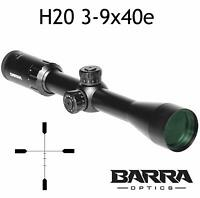 Barra Rifle Scope H20 3-9x40E BDC Reticle Capped Turrets Hunting Precision