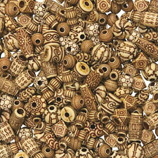 Creativity Street Natural Mixed Bone Beads, Assorted Shapes and Sizes, 8 oz