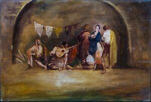Large 19th Century Spanish Street Scene Sketch Francisco DE GOYA (1746-1828)