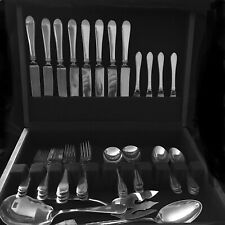 STIEFF STERLING SILVER FLATWARE Betsy Patterson 8 place settings of 5pcs