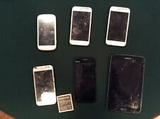 Lot Of 5 Samsung And 1 Blu Cell Phones. Do Not Work. For Parts Only