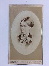 Victorian Carte De Visite CDV Photo: Lady: AL Henderson: London