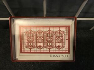 Partial box of Frank Lloyd Wright Thank You cards (from Pomegranate) - 7 cards