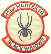United States Air Force (USAF) 421st Fighter Squadron Patch (Black Widows)