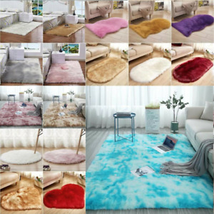 Fluffy Faux Fur Rug Large Small Area Rugs Comfy Shaggy Bedroom Carpet Floor Mat*
