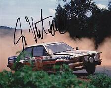 Ari Vatanen mano firmado Rothmans Ford Escort 10x8 Foto Rally Campeón del Mundo 6.