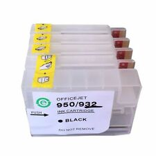 4 Empty Refillable Ink Cartridge for HP 932/933 Non-OEM Officejet 7110 7610 7612