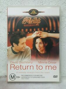 Return To Me DVD David Duchovny Minnie Driver, Bonnie Hunt, Romantic Rare Movie