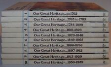 VINTAGE OUR GREAT HERITAGE - 10 VOLUME SET VERY GOOD CONDITION - ILLUSTRATED