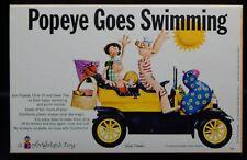 1963 vintage Popeye Goes Swimming Colorforms Set unused Mib Olive Oyl Swee Pea !
