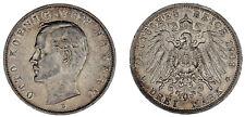 3 MARK BAVARIA / 3 MARCOS BAVIERA. Ag. OTTO. ALEMANIA. 1909 D. XF / EBC.