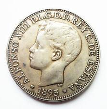 ALFONSO XIII - Peso. 1895. PUERTO RICO. P.G.-V. (27 fleur-de-lis) GOOD CONDITION