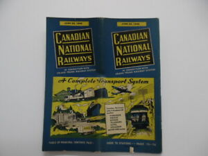 1940 Canadian National Grand Trunk Railway System Joint Timetable 108 June 23
