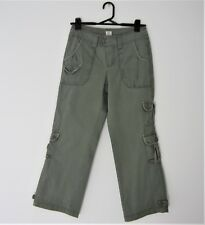 ESPRIT CASUAL CARGO PANTS Girls Womens Female Style Size Small Cotton Army Green