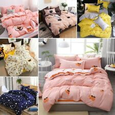 3/4 Pcs Bedding Set Comforter Cover Sheet Pillowcases Ultra-soft Twin Queen King
