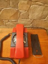 Vintage mint condition rotary phone, wall hanging red phone in original box