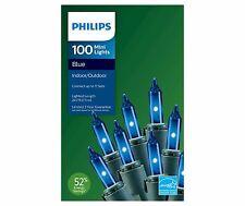 (x2) Philips 100 ct Blue Mini String Lights Indoor / Outdoor