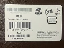 SPRINT Freedompop Boost Virgin Nano SIM CARD SIMGLW426C 63.06