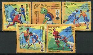 India 2018 MNH Odisha Mens Hockey World Cup Bhubaneswar 5v Set Sports Stamps