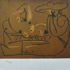 PABLO PICASSO Lying Woman and Man.... HAND NUMBERED 308/333 signed LITHOGRAPH
