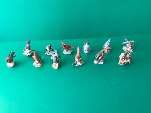 Franklin Mint, Porzellanfiguren, Gartenvögel der Welt, 12 Stück, gebraucht
