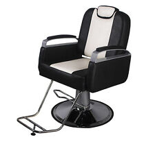 Barber Chair Hydraulic Styling Hair Beauty Spa Equipment Black&White Classic New