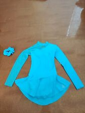 Ladies Sagester Figure Skating Competition Dress Turquoise Size S