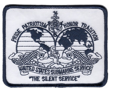 "4.25"" Navy Submarine Silent Service Dolphins Embroidered Patch"