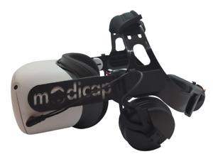 modicap Black Edition Q2 für die Quest 2 mit Sound original Sennheiser