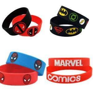 Latest Quality Comic Marvel Super Hero Unisex Silicone Wristband Bracelet Gift