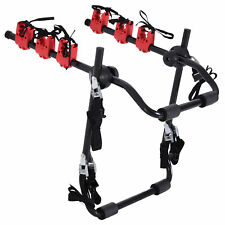 Foldable 3 Bike Carrier Car Back Mount Bicycle Rack Trunk SUV Universal