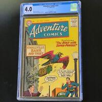 ADVENTURE COMICS #225 💥 CGC 4.0 OW-W 💥 Super-bird & Superboy! DC Comics 1956