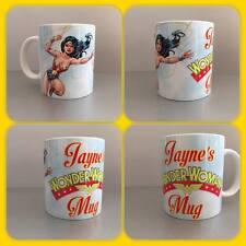 personalised mug wonder woman dc comics mom mum personalised mug cup princess :)