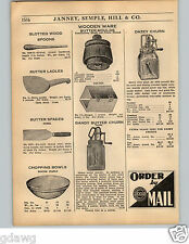 1936 PAPER AD Taylor Dandy Dazey Glass Butter Churn Wood Wooden Molds Loulds